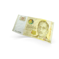 10000 Singapore Dollar Banknote Bill PNG & PSD Images