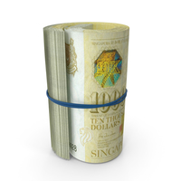 10000 Singapore Dollar roll PNG & PSD Images