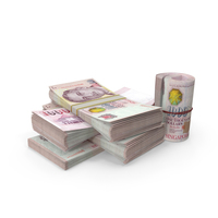 Small Pile of Singapore Dollar Stacks PNG & PSD Images