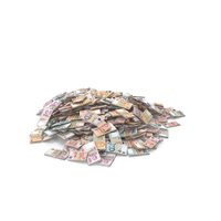 Large Pile of Singapore Dollar Stacks PNG & PSD Images