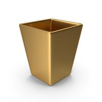 Square Vase Golden PNG & PSD Images