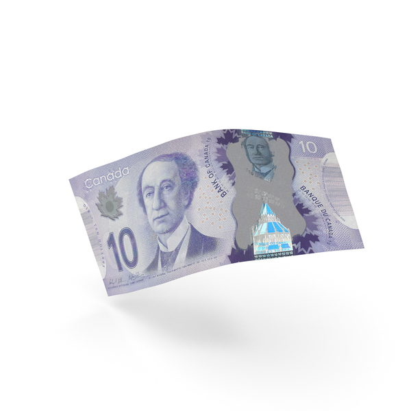 10 Canadian Dollar Banknote Bill PNG & PSD Images
