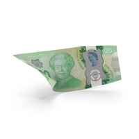 20 Canadian Dollar Banknote Bill PNG & PSD Images