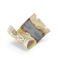 100 Canadian Dollar Banknote Bill PNG & PSD Images