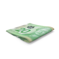 Small Folded Stack of Canadian Dollar Banknote Bills PNG & PSD Images