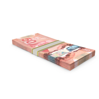 50 Canadian Dollar Stack PNG & PSD Images