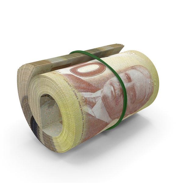 100 Canadian Dollar Roll PNG & PSD Images