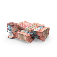Small Pile of Canadian Dollar Stack PNG & PSD Images