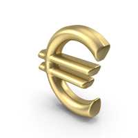 Currency Symbol Euro Gold PNG & PSD Images