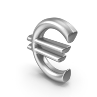 Currency Symbol Euro Silver PNG & PSD Images