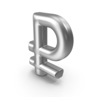 Currency Symbol Rouble Silver PNG & PSD Images