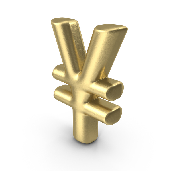 Currency Symbol Yen Gold PNG & PSD Images