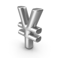 Currency Symbol Yen Silver PNG & PSD Images