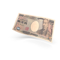 10000 Japanese Yen Banknote Bill PNG & PSD Images
