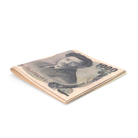 Small Folded Stack of 1000 Japanese Yen Banknotes PNG & PSD Images