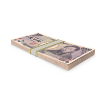 5000 Japanese Yen Banknote Stack PNG & PSD Images