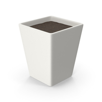 Square Pot With Soil PNG & PSD Images