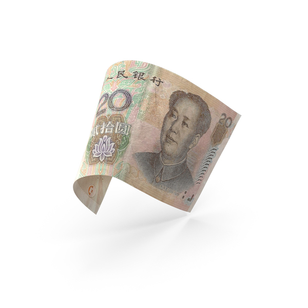 20 Chinese Yuan Banknote Bill PNG & PSD Images