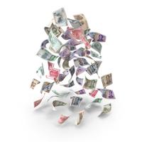 Rain of Falling Chinese Yuan Banknotes PNG & PSD Images