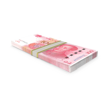 100 Chinese Yuan Banknote Stack PNG & PSD Images