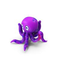 Cartoon Octopus Purple PNG & PSD Images