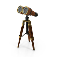 Old Binoculars with Tripod PNG & PSD Images