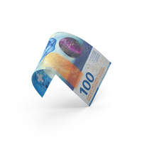 100 Swiss Franc Banknote Bill PNG & PSD Images