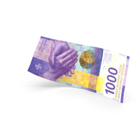 1000 Swiss Franc Banknote Bill PNG & PSD Images