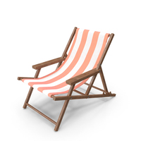 Beach Chair Pink PNG & PSD Images