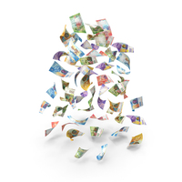 Rain of Falling Swiss Franc Banknotes PNG & PSD Images
