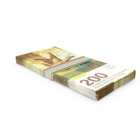200 Swiss Franc Stack PNG & PSD Images