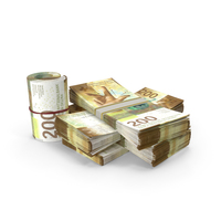 Small Pile of Swiss Franc Stacks PNG & PSD Images
