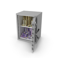 Safe with Swiss Franc Stacks PNG & PSD Images