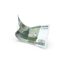 5 Russian Ruble Banknote Bill PNG & PSD Images