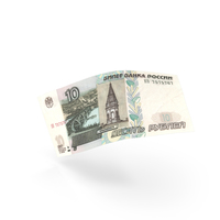 10 Russian Ruble Banknote Bill PNG & PSD Images