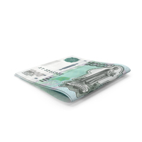 Small Folded Stack of Russian Ruble Banknote Bills PNG & PSD Images