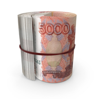 5000 Russian Ruble Banknote Roll PNG & PSD Images