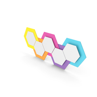 Infographic Hexagons PNG & PSD Images