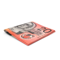 Australian Dollar Banknotes Small Folded Stack PNG & PSD Images