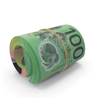 Australian Dollar Banknote Roll PNG & PSD Images