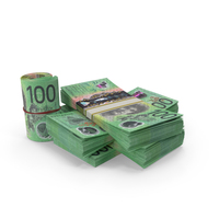 Australian Dollar Banknote Pile of Stacks PNG & PSD Images