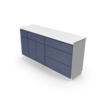 Kitchen Cabinet Blue White PNG & PSD Images
