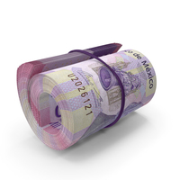 Mexican Peso Banknote Roll PNG & PSD Images