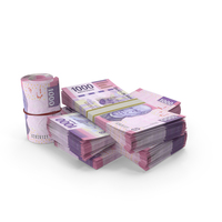 Mexican Peso Banknote Pile of Stacks PNG & PSD Images
