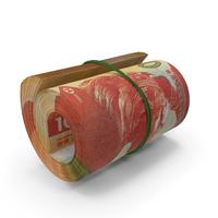 Hong Kong Dollar Banknote Roll PNG & PSD Images