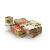 Hong Kong Dollar Banknote Pile of Stacks PNG & PSD Images
