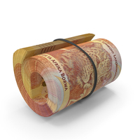 South African Rand Banknote Roll PNG & PSD Images