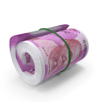 Indian Rupee Banknote Roll PNG & PSD Images