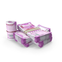 Indian Rupee Banknote Pile of Stacks PNG & PSD Images