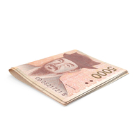Korean Won Banknotes Small Folded Stack PNG & PSD Images